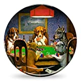Dogs Playing Poker by C.M.Coolidge Microwave Safe Plastic Plate - Composite Polymer
