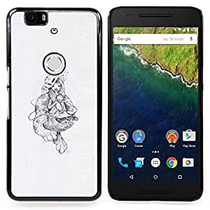 - Abstract Monsters/ Hard Snap On Cell Phone Case Cover - Cao - For Huawei Nexus 6P