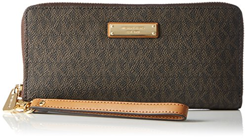 (Michael Kors Jet Set Continental Wristlet - Brown)