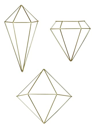 umbra prisma decorative accents set of 6 brass - Decorative Accents