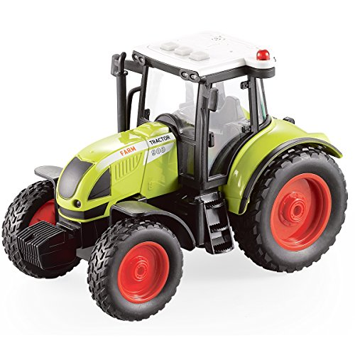 Toy And Hobby - Fistone 1:16 Truck Inertia Farm Tractor Modern Farm Machinery Car Toy Simulation Farmer Tractor Hobby Toys for Kids with LED Lights