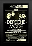 11x17 FRAMED Poster Print Depeche Mode At Six Flags Over Georgia with Special Guest OMD