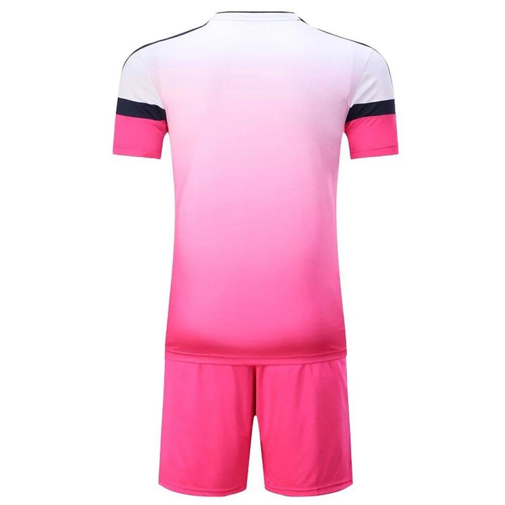 BOZEVON Team Soccer Suit Men's T-Shirt Shorts Football Match Training Suits