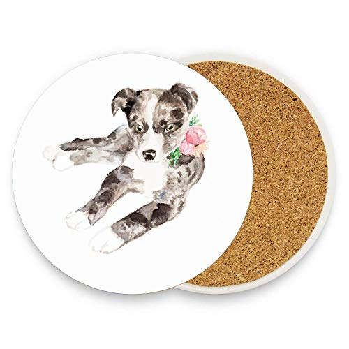 GTdgstdsc libby Coaster for Drinks,Wallpaper Ceramic Round Cork Table Cup Mat Coaster Pack Of 1