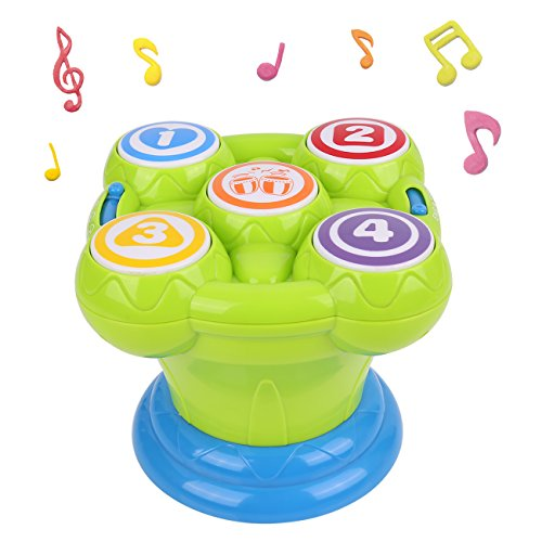 Baby Drum, Kids Drum with Misical Electronic Learning Toys for Kids, Birthday Gifts, Christmas Gifts, toys for 1 -3 year old (Green) (Ideas 1 Gift)