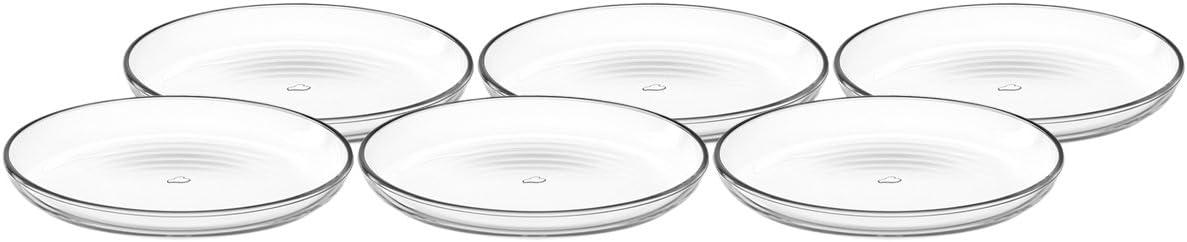 Transparente 10/x 10/x 4.5999999999999996/cm /Juego de 6/Cuencos 10/cm 6/Unidades Cristal Leonardo 066325/Cucina/