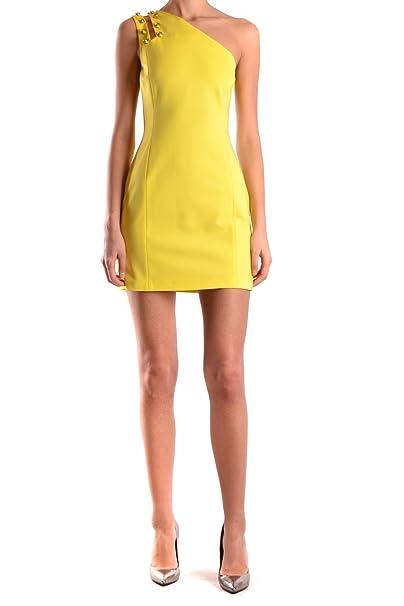 Versace Mujer Bd00630bj20351b1017 Amarillo Viscosa Vestido