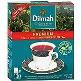 Dilmah Premium Quality 100% Pure Ceylon Tea, 100 Tea Bags