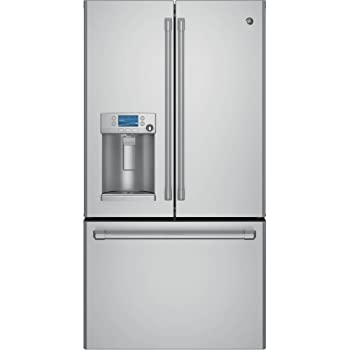 Register This Product · Ge Cye22tshss Cafe 22 1 Cu Ft Stainless Steel  Counter Depth French Door Refrigerator Energy Star ...