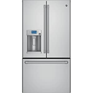 GE CYE22TSHSS Cafe 22.1 Cu. Ft. Stainless Steel Counter Depth French Door Refrigerator - Energy Star