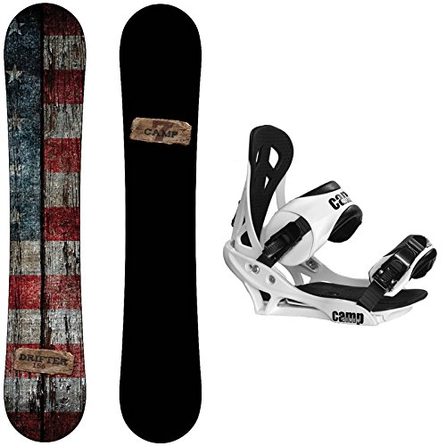 Camp Seven 2021 Drifter Snowboard with Summit Bindings Men's Snowboard Package