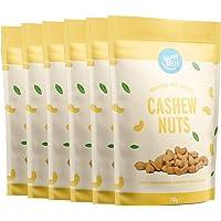 Amazon-merk: Happy Belly cashewnoten, geroosterd en gezouten, 6 x 150 g