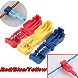 60pcs Wire Connectors, Yellow/Blue/Red Gauge Quick Splice Lock Wire Terminals Connectors Spade Wire Crimp Electrical Wire Set