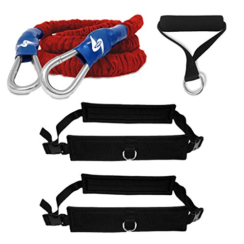 SPEEDSTER® Progressive Resistance Speed Trainer ** 1 ULTRA HEAVY RESISTANCE 8' SAFETY SLEEVE CORD, 2 WAIST BELTS AND 1 TOW HANDLE - Trainer Safety Resistance