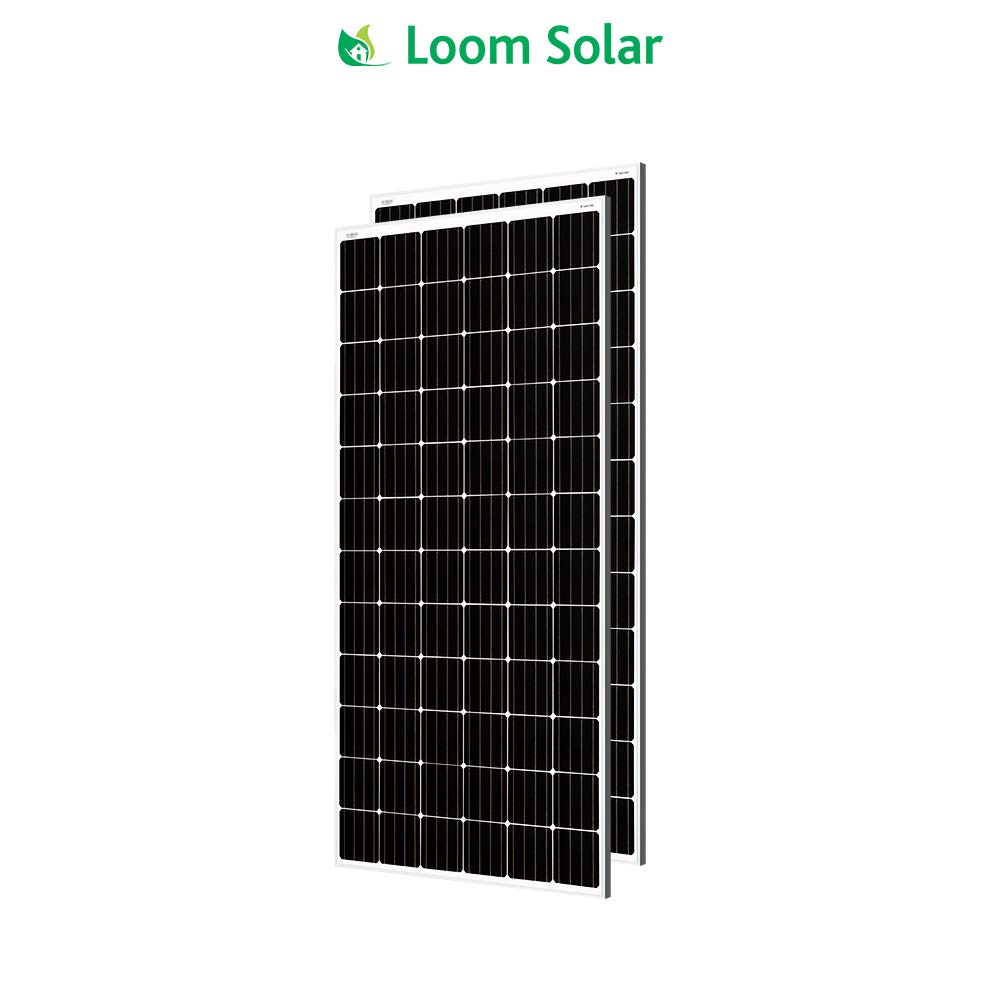 Loom Solar 350 Watt - 24 Volt Mono Crystalline Panel (Pack Of 2)