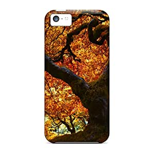 Shock-dirt Proof Japanese Oak In Autumn Cases Covers For Iphone 5c