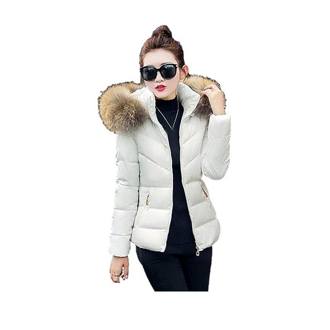 551416f6c5 VICGREY ❤ Cappotto Donna Invernale Elegante, Donna Parka Invernale con  Pelliccia Down Giacca con Cappuccio Moda Cappotto Lunga Caldo Spessore ...