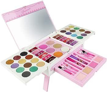 ALOOVOO Maquillaje de los niños-Maquillaje de la Princesa Set-Esmalte de uñas Maquillaje Set Infantil cosméticos de Belleza Set para niñas (56 Pack): Amazon.es: Hogar