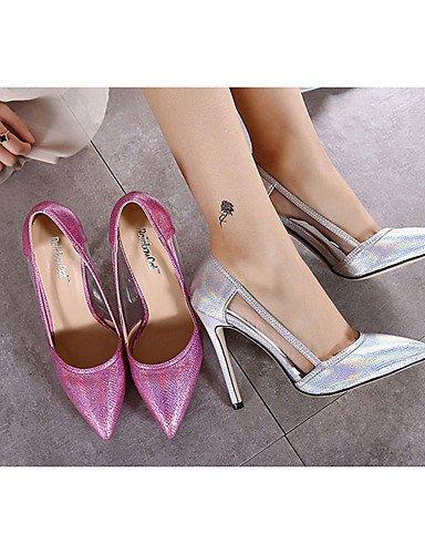 us8 pu casual us6 tacones tacones tacón Cn40 5 Fucsia plata De Stiletto Mujer Eu36 Uk6 Uk4 Cn36 Ggx Silver 5 Zapatos Eu39 Silver 7pHqFF