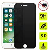 Supersks Compatible/Replacement for Anti-Spy Anti-Glare Anti-Scratch 9H Tempered Glass Screen Protector Privacy Screen Protector for iPhone 7 Plus 8 Plus Edge to Edge Full Cover Screen Protector 5.5''