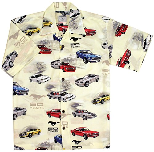 ford-mustang-50th-anniversary-cars-camp-hawaiian-shirt-by-david-carey-xl