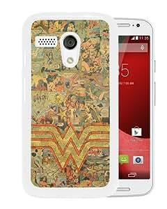 Motorola Moto G Wonder Woman Logo White Screen Cover Case Beautiful and Cool Design