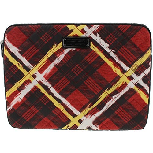 Laptop Quilted Carrying Case (Marc by Marc Jacobs Quilted Printed Laptop Case Red O/S)
