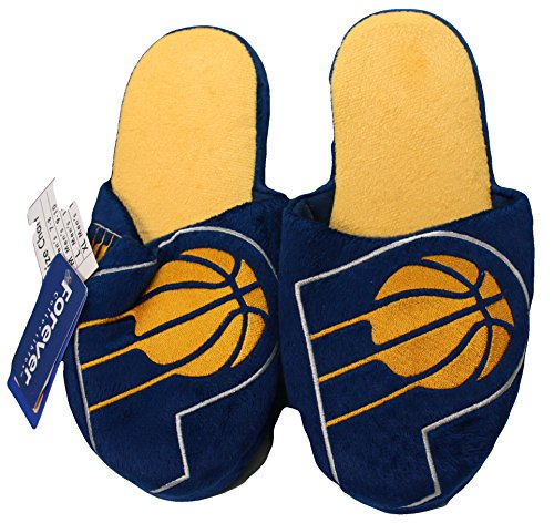 NBA Indiana Pacers Men's Team Logo Slippers Blue (XL 13-14) by NBA