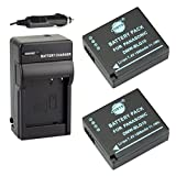 DSTE 2x DMW-BLG10 DMW-BLG10E DMW-BLG10PP Battery + DC120 Travel and Car Charger Adapter for Panasonic LUMIX DMC-GF3 DMC-GF5 DMC-GF6 DMC-GX7 DMC-LX100 DMC-TX1 Camera as DMW-BLE9