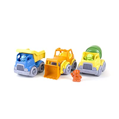 Green Toys Construction Vehicle (3 Pack): Toys & Games