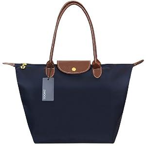 Cabas pour Femme Moyen – ZWOOS Pochette sac à Main Sac de Shopping pour Femme (M, Bleu Marine)