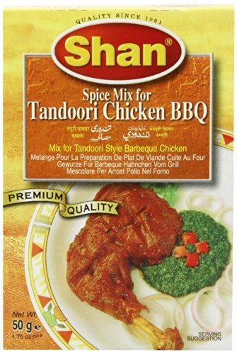 Shan Tandoori Masala for BBQ Chicken - 6 Pack (1.76 Oz. Ea.)