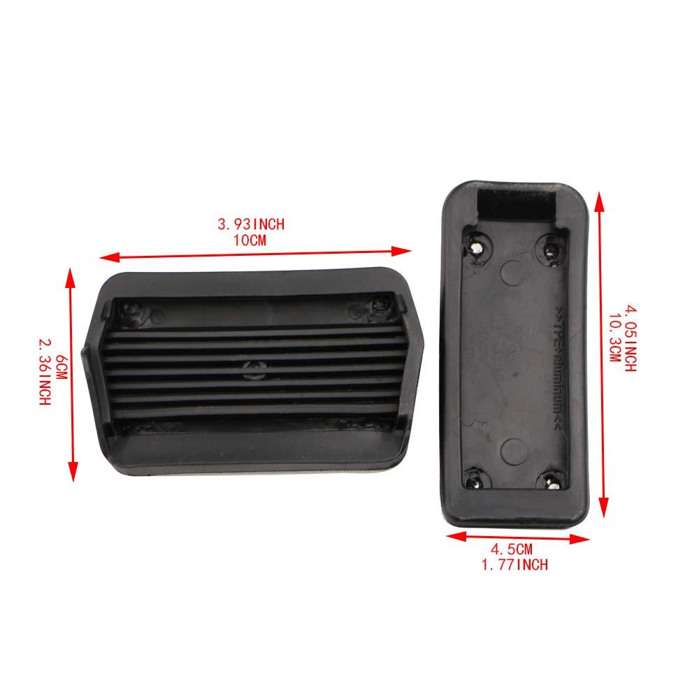 Cubierta para pedales de freno de coche para Focus 2 3 4 MK2 MK3 MK4 RS ST Kuga Footrest accelerator