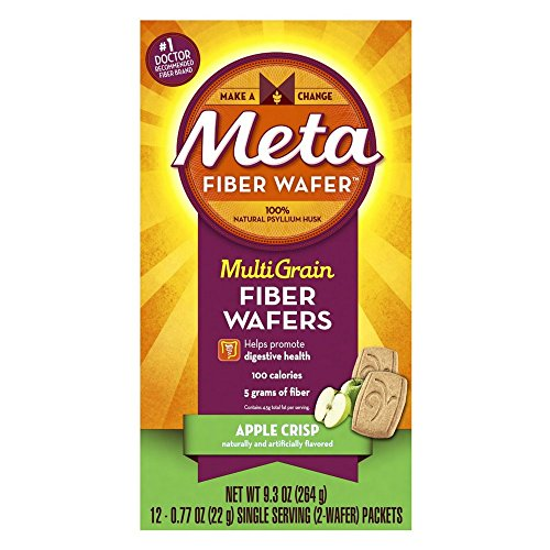 Metamucil MultiGrain Fiber Wafers, Apple Crisp, 12 Single Serve Packets, 2 Wafers ()