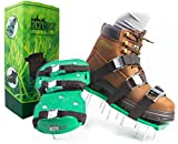 Already Assembled Lawn Aerator Shoes | Ready to Use Premium Grass Aeration Sandals with Heavy Duty Adjustable Straps, Metal Buckles & Secure Steel Spikes | 4th Strap, Extra Hardware & Instructions