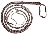 10 Foot 4 Plait DARK BROWN Real Leather BULLWHIP bull whips
