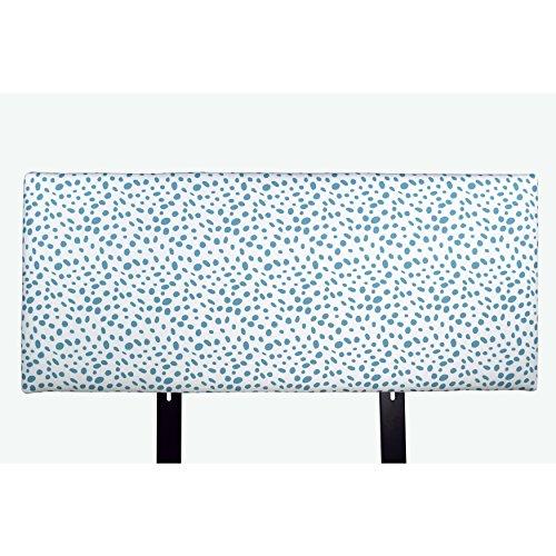 MJL Furniture Designs Alice Padded Bedroom Headboard Contemporary Styled Bedroom Décor, Togo Series Headboard, Coastal Blue Finish, Queen Sized, USA Made (Queen Headboard Coastal)