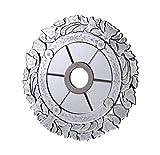 Elegant Lighting MD410D24SC 24 in. Mirror Medallion, Silver With Clear Mirror by Elegant Lighting