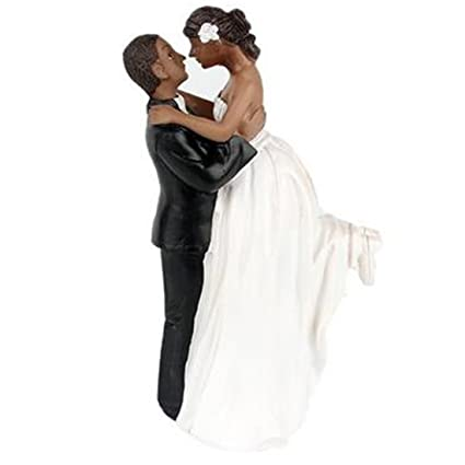 6ed74a4540 Amazon.com: Little Chair Sweet Wedding Cake Topper African American ...