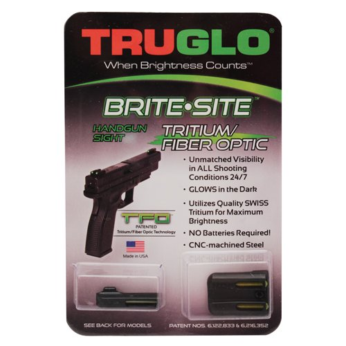 TRUGLO TFO Handgun Sight Set - Springfield XD, XDM, XDS - Green/Yellow Rear