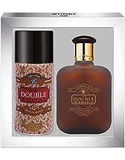 WHISKY DOUBLE • Caja Eau de Toilette 100ML + Desodorante 15OML • Vaporizador • Spray • Perfume para hombre • Regalo• EVAFLORPARIS