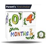 Premium Wood Milestone Age Blocks | Week, Month, Year, Grade Pictures | Growth Newborn Age Photo Blocks | Perfect Baby Shower Gift and Keepsake by Spunky Sprouts