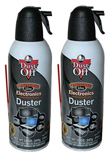 Dust-Off Falcon Professional Electronics Compressed Air Duster and Endust Wipes Bundle: 2 Packs 12 oz. Cans + 70 Count Wipes by Dust-Off (Image #1)