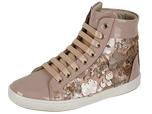 Zecchino dOro F12-4245 hoher Sneaker Mädchen Pink (nude-rose 494)