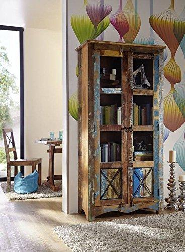 Altholz massiv mehrfarbig Massivmöbel Holz Vitrine Massivholz Möbel massiv Spirit #52