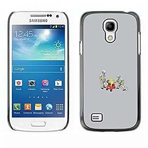 // PHONE CASE GIFT // Duro Estuche protector PC Cáscara Plástico Carcasa Funda Hard Protective Case for Samsung Galaxy S4 Mini i9190 / Firemen working /