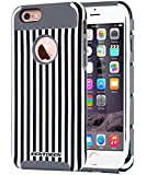 iPhone 6S Case, iPhone 6 Case, BENTOBEN Ultra Slim Stripe Dual Layer Hybrid Case Hard PC and Inner TPU Rubber Bumper Cover Shockproof Protective Case for iPhone 6/6S (4.7 Inch), Black