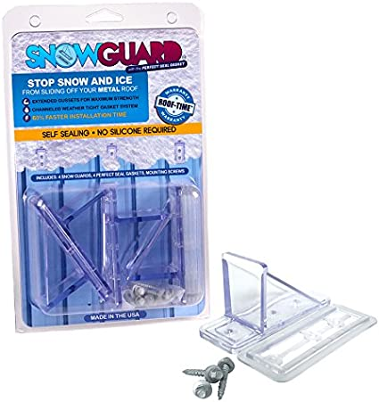 COLOR MINI SNOW GUARD™ STOPS W// PATENTED PERFECT SEAL GASKET NO SILICONE NEEDED