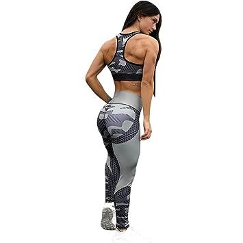 Levifun Pantalones Yoga Mujeres Polainas Deportivas Mujer,Cintura Alta Impreso Sexy Mujer Deporte Pantalones Fitness Mujer Gym Pantalon Yoga EláSticos ...