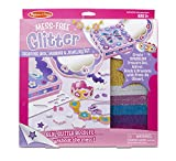 Melissa & Doug Mess-Free Glitter Treasure Box, Mirror and Jewelry Set
